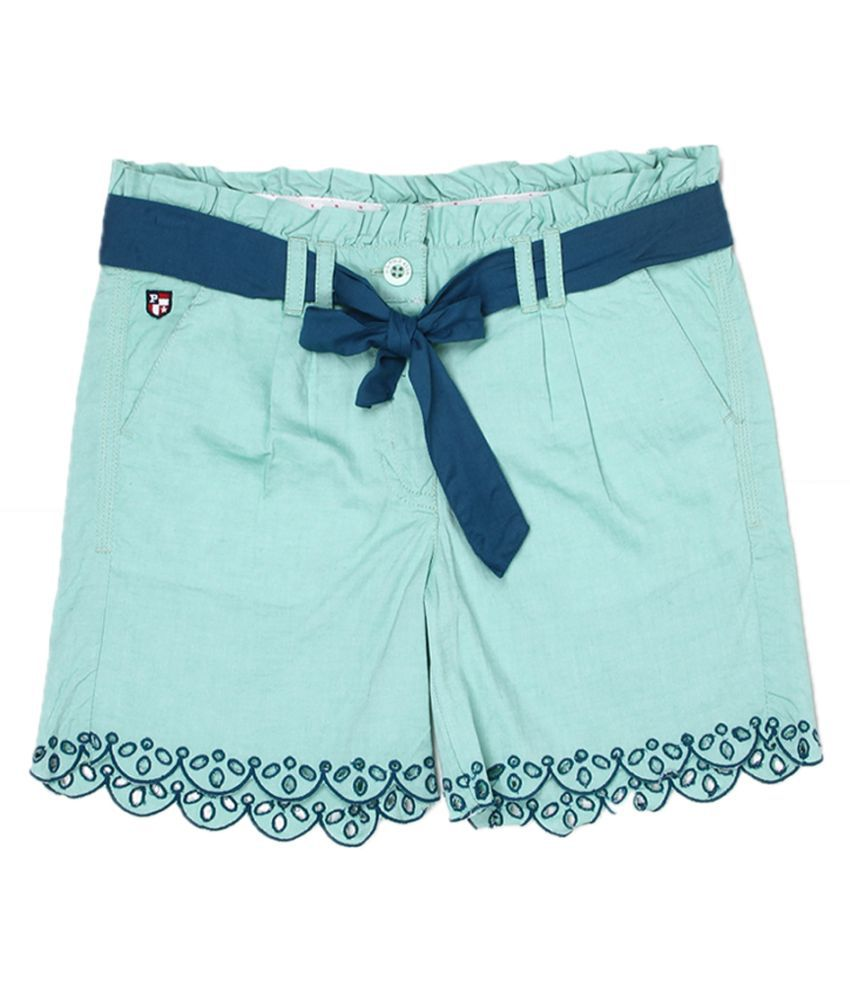 US Polo Girls Blue Casual Short