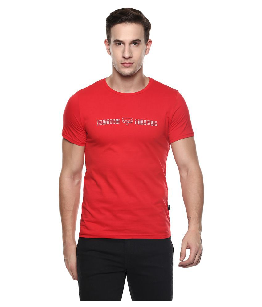 Fritzberg Red Round T-Shirt Pack of 1