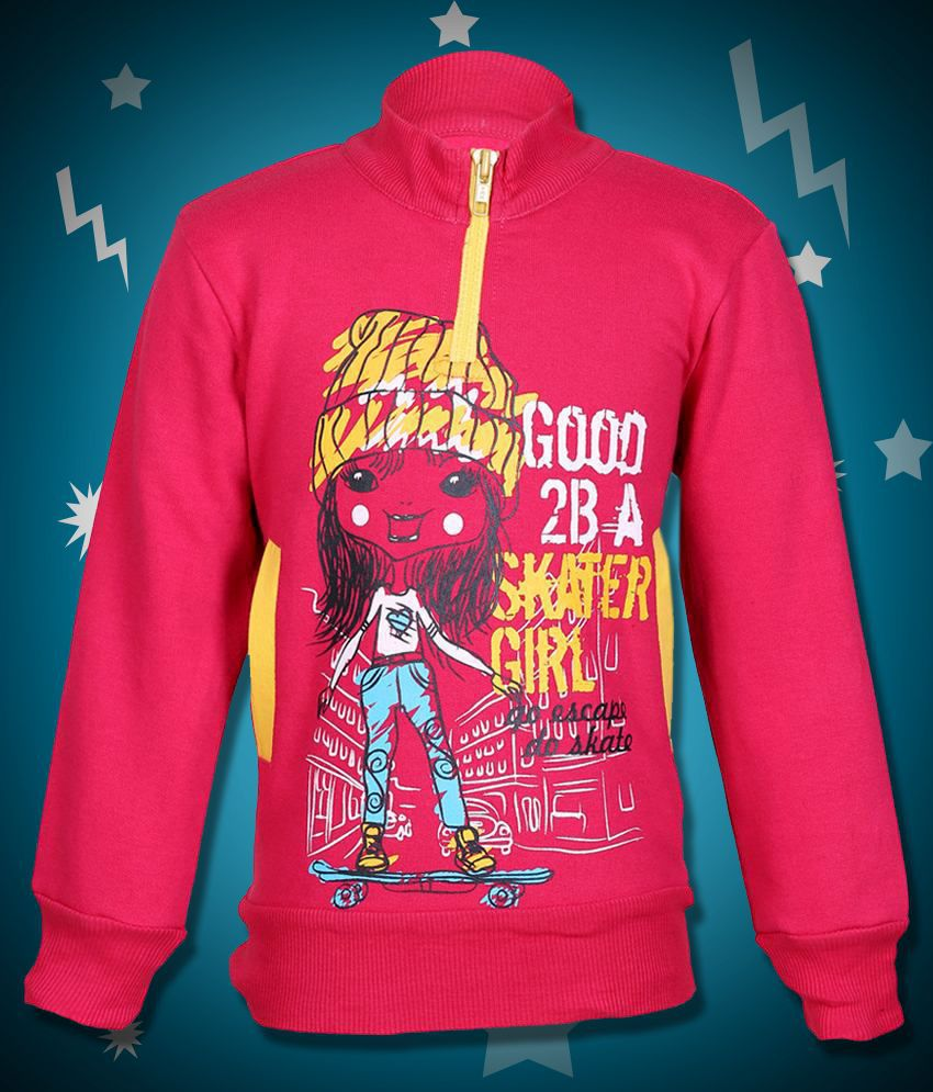 Cool Quotient Pink Sweatshirt For Girls