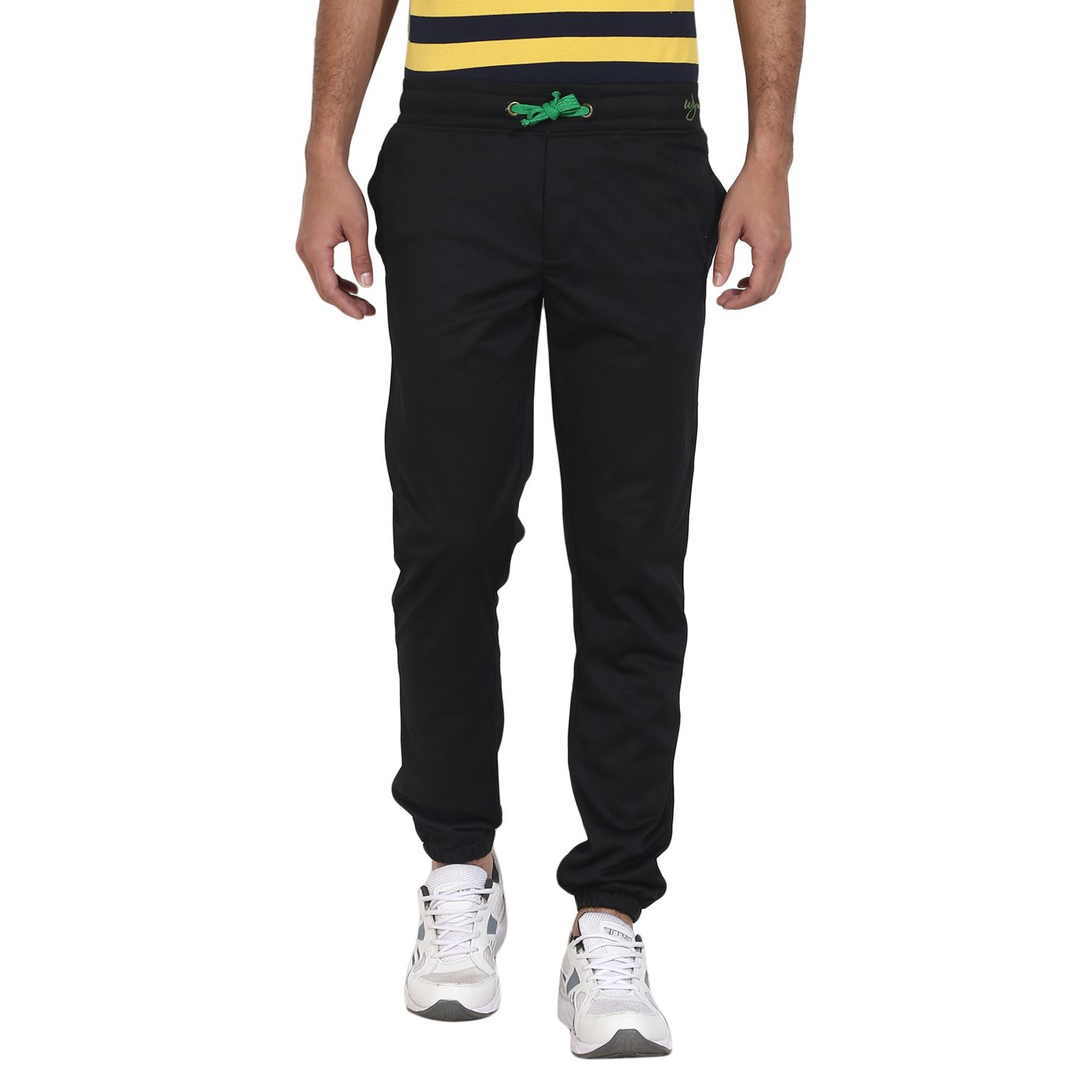 Wear Your Mind Black Regular -Fit Flat Joggers