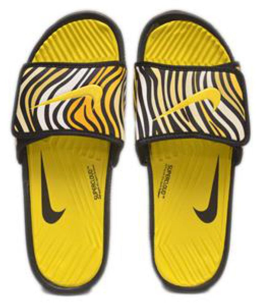 1709236bad52 Nike MEN S NEW SLIPPERS (113406) Yellow Slide Flip flop Price in ...