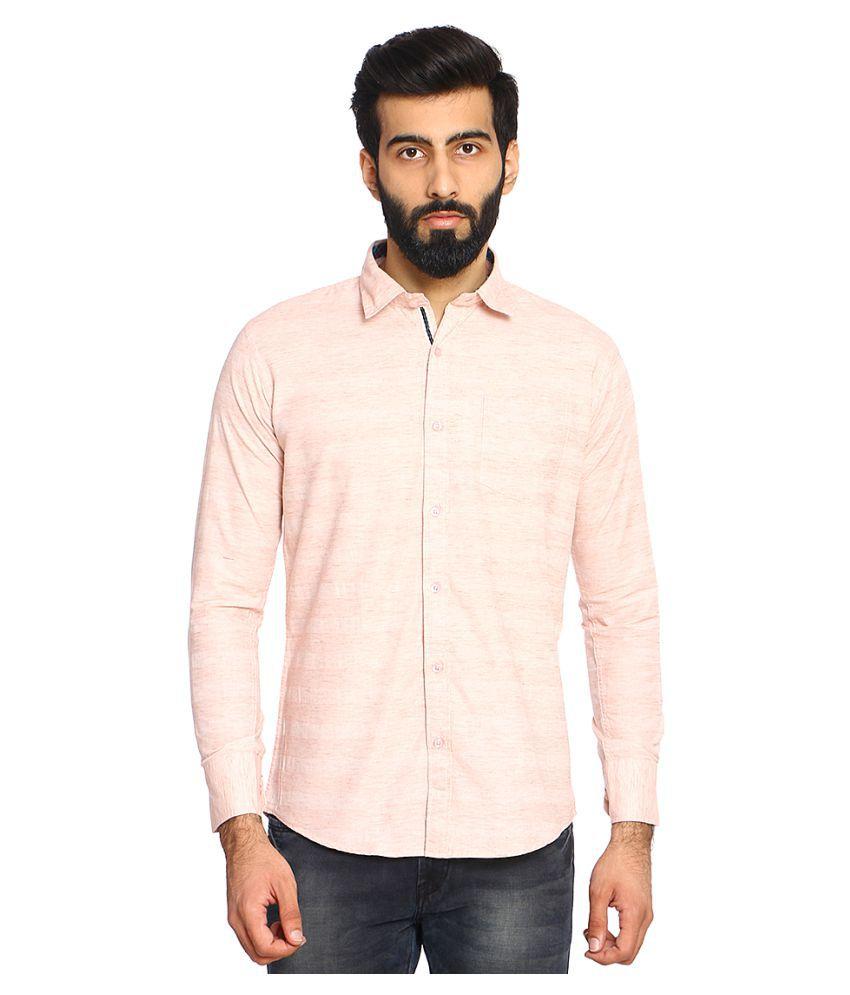 Duke Peach Slim Fit Shirt