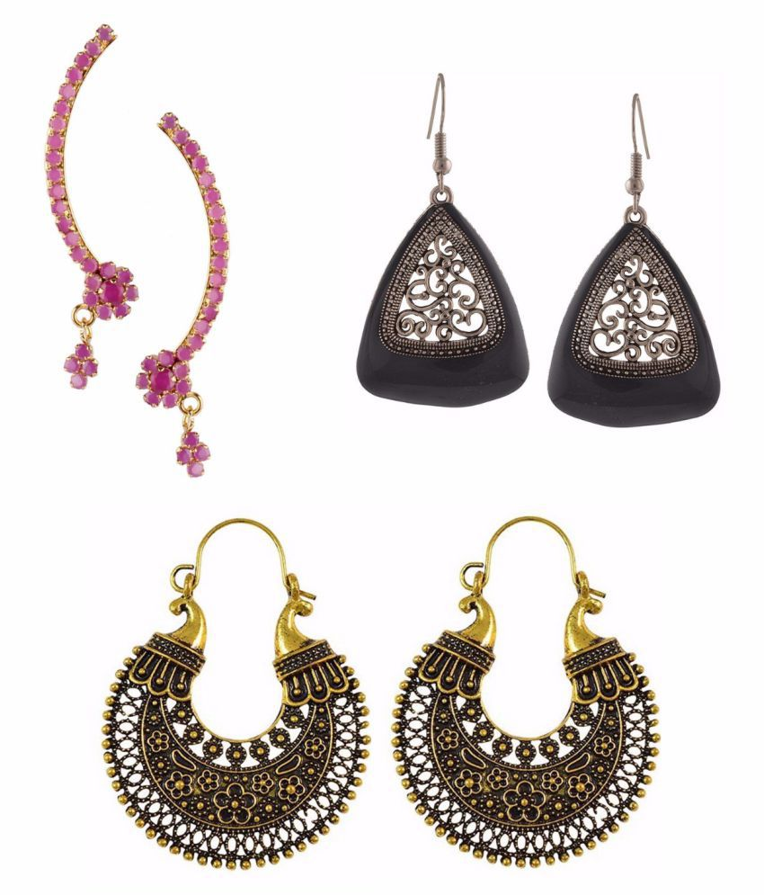 Archi Collection Jewellery Combo of Stylish Fancy Party Wear Cuff Earring and Dangler Earring Jewellery for Girls & Women