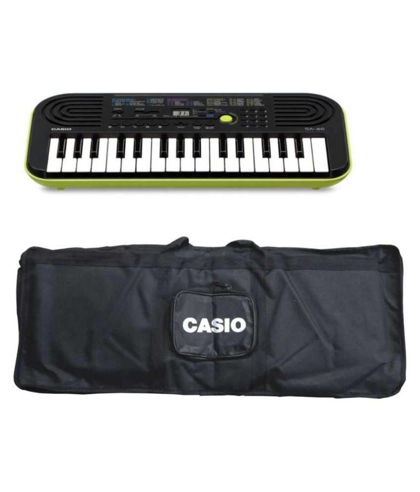 d30e982d9 Casio SA-46 32 Mini Keys Musical Keyboard (Black Green)  Buy Casio SA-46 32  Mini Keys Musical Keyboard (Black Green) Online at Best Price in India on  ...