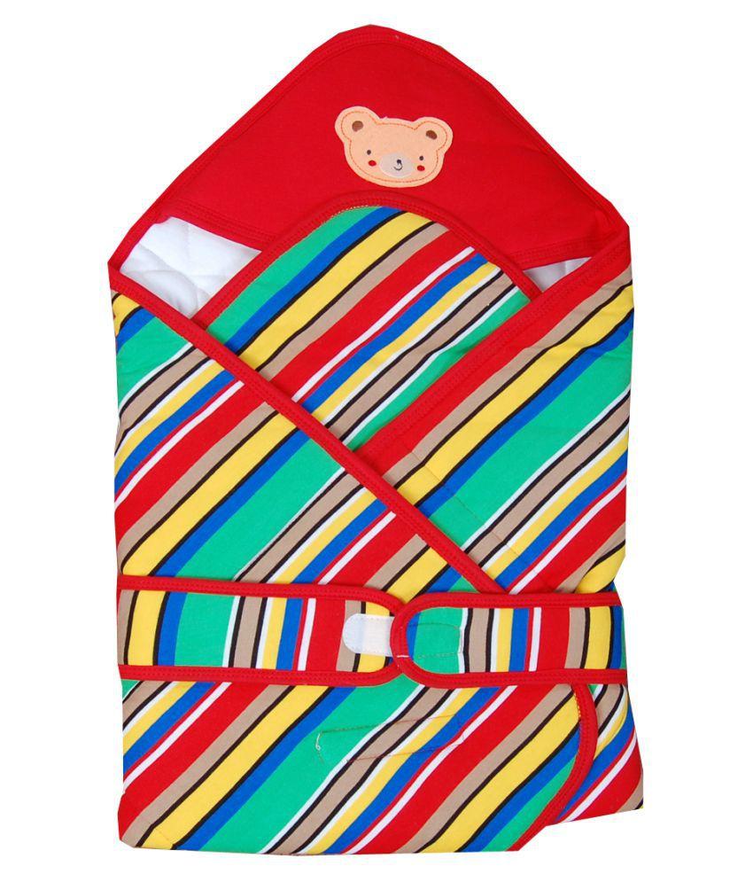 GURU KRIPA BABY PRODUCTS Red Fleece Sleeping Bags ( 75 cm × 75 cm)