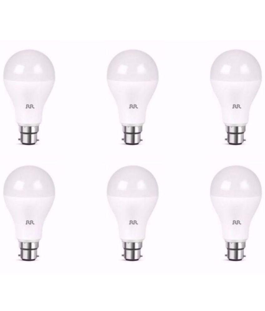RR Kabel 12W LED Bulbs Cool Day Light Pack of 6 Buy RR Kabel 12W
