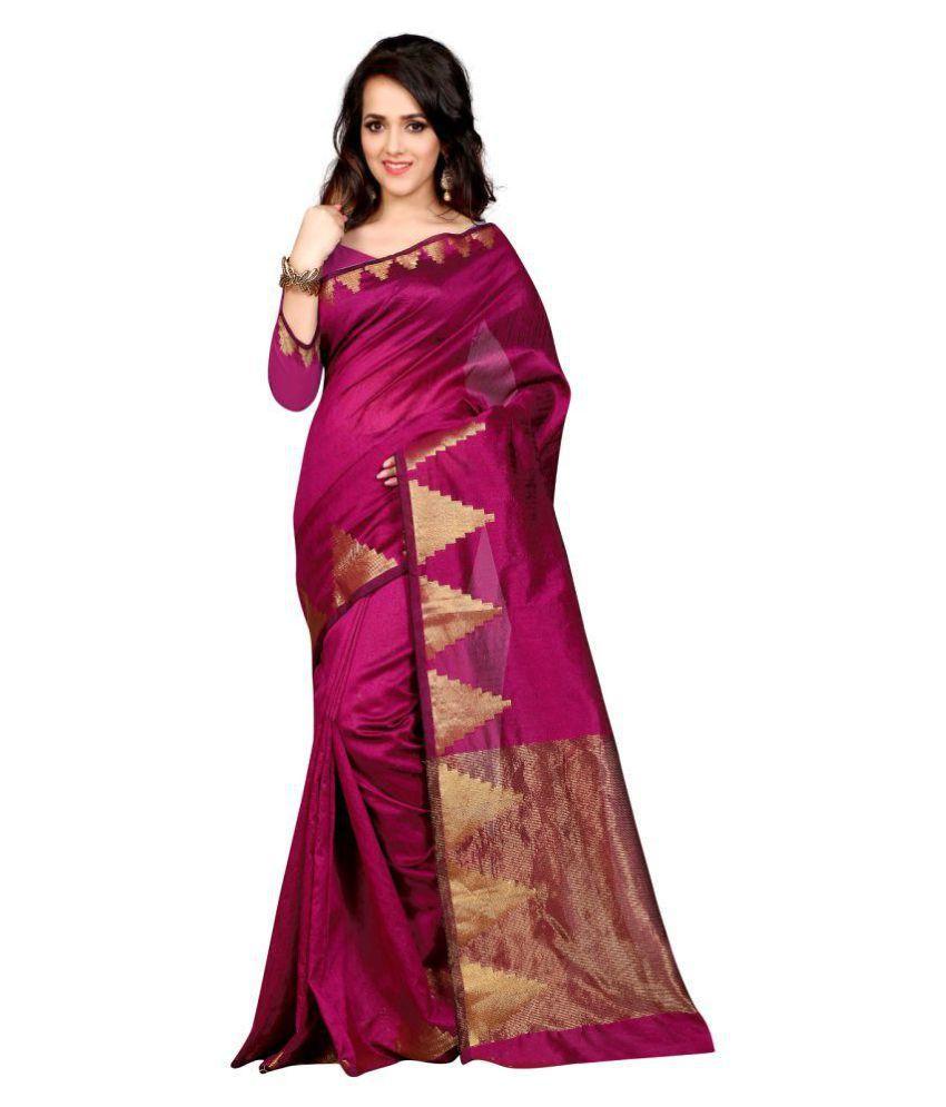 Varniraj Online Red and Purple Art Silk Saree