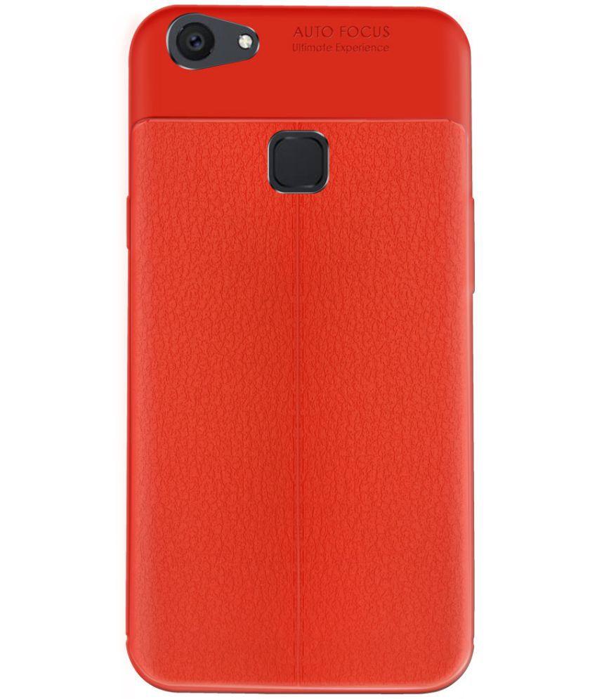 vivo V7 plus Plain Cases Mobik - Red