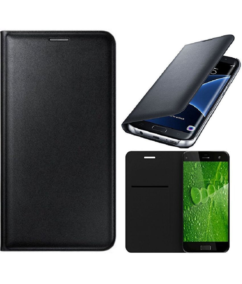 Gionee P5W Flip Cover by Shanice - Black