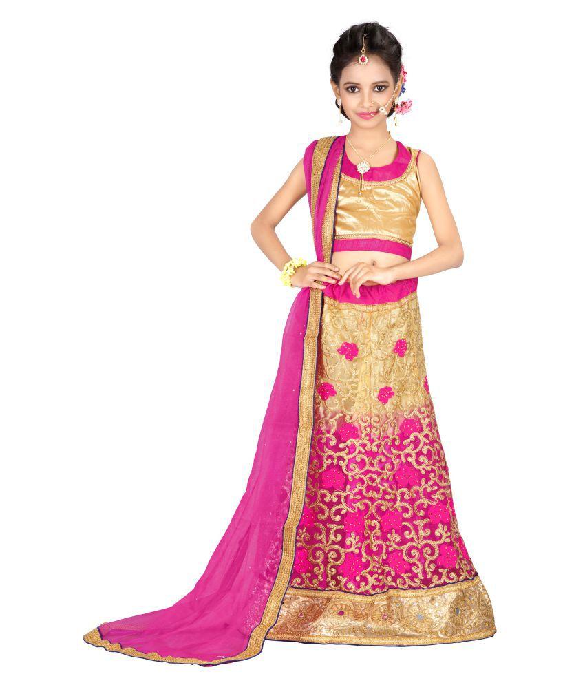 30b2d78d55 Surupta Pink Color Net Embroidered Party Wear Lehenga Choli of 32 Size - Buy  Surupta Pink Color Net Embroidered Party Wear Lehenga Choli of 32 Size  Online ...