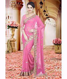 SareeShop Designer SareeS Pink Chiffon Saree