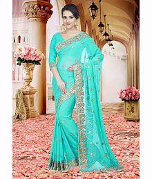 SareeShop Designer SareeS Turquoise Silk Saree
