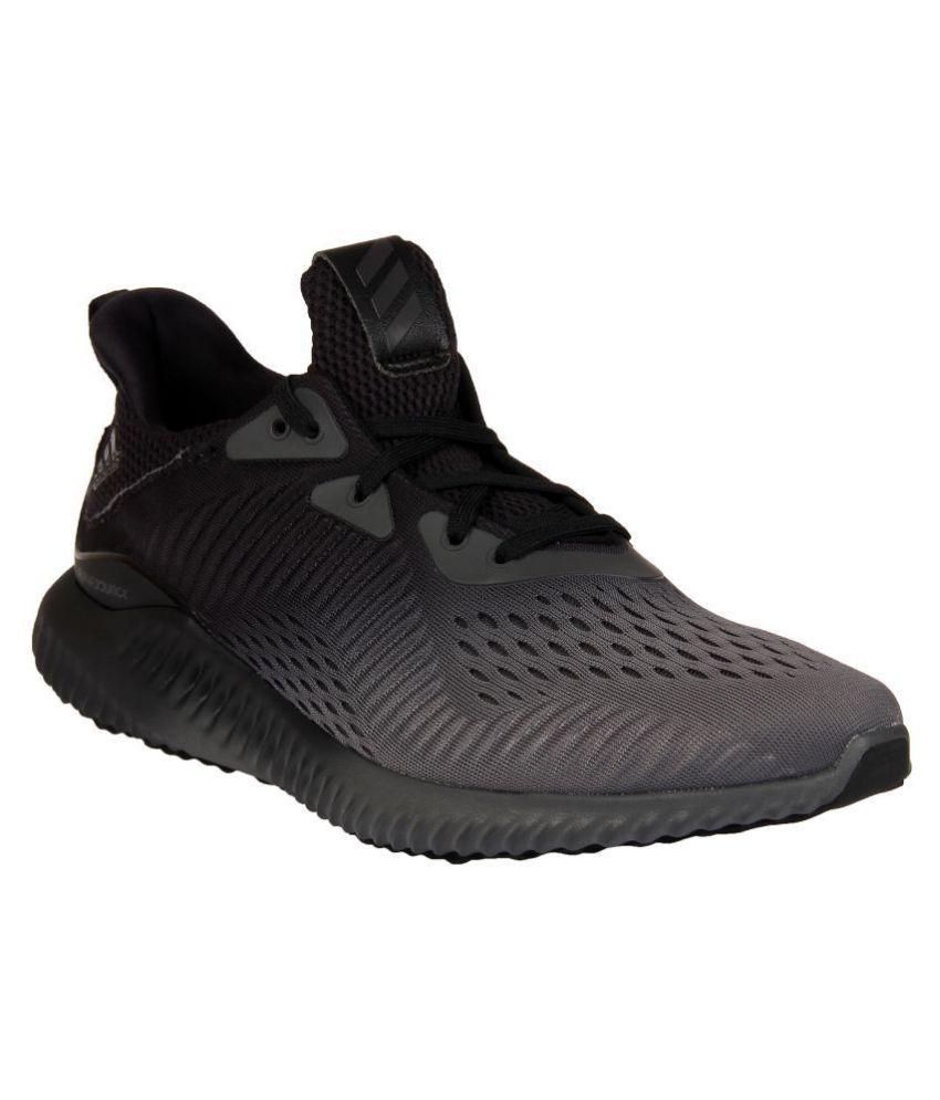 ecuación Vástago Retirada  Adidas ALPHABOUNCE EM M Black Running Shoes - Buy Adidas ALPHABOUNCE EM M  Black Running Shoes Online at Best Prices in India on Snapdeal