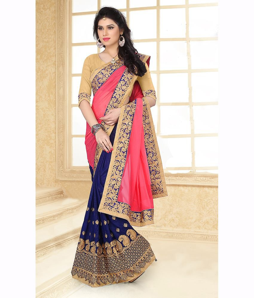 9086a3f00750ef SareeShop Designer SareeS Pink and Beige Chiffon Saree - Buy SareeShop Designer  SareeS Pink and Beige Chiffon Saree Online at Low Price - Snapdeal.com
