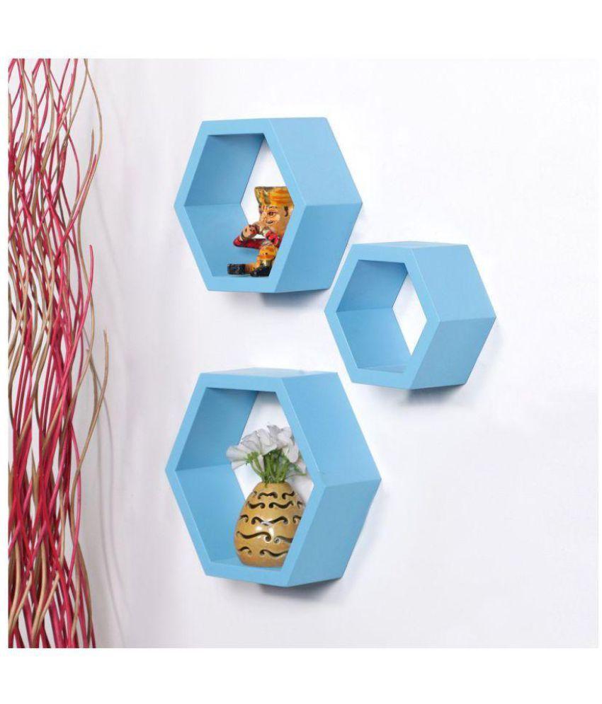 Sunshine Floating Shelf/ Wall Shelf / Storage Shelf/ Decoration Shelf Blue - Pack of 1