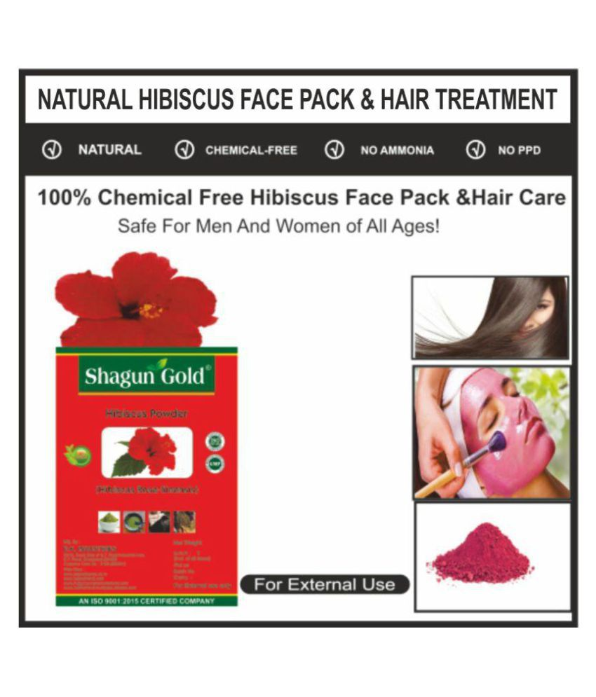Shagun Gold Hibiscus Powder Semi Permanent Hair Color Red 100 Gm