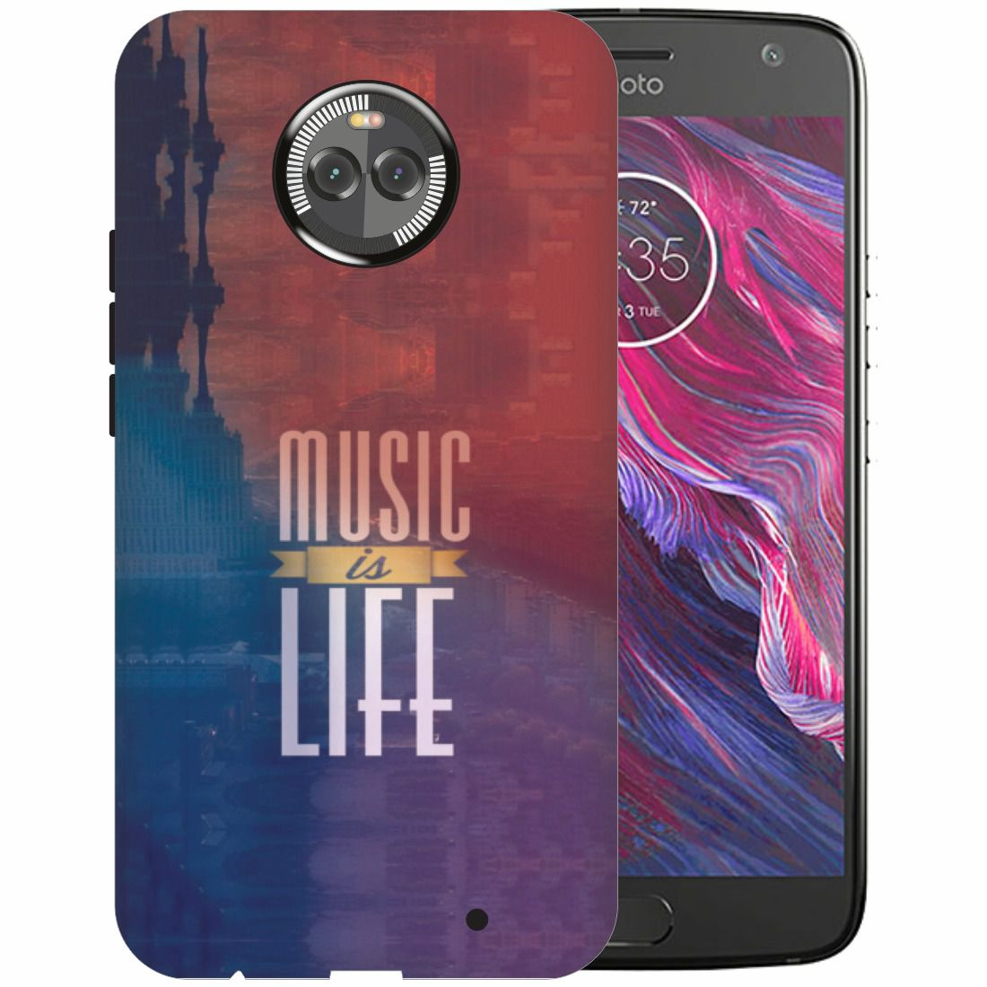 Motorola Moto X4 3D Back Covers By Printland