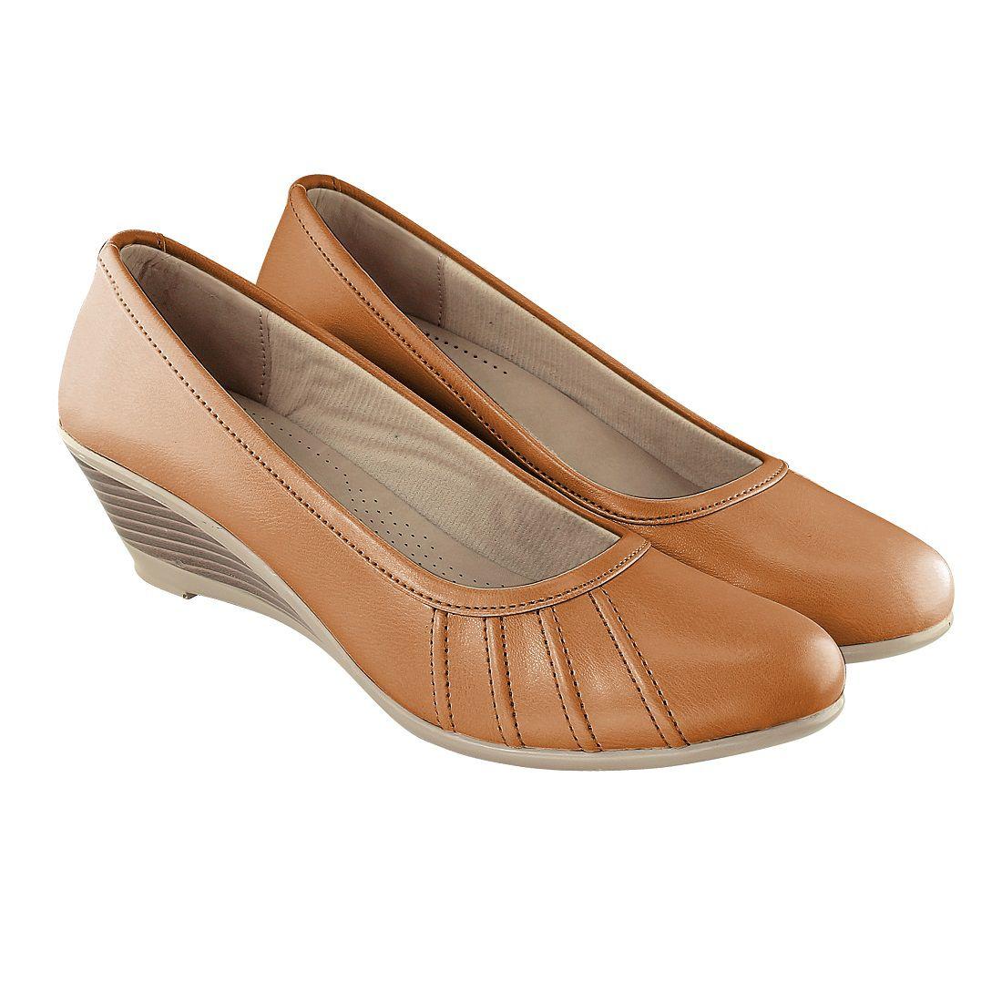 Rimson Tan Wedges Heels
