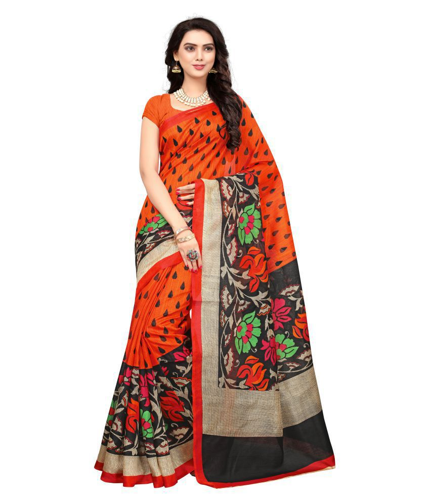 VRA Trendz Multicoloured Bhagalpuri Silk Saree