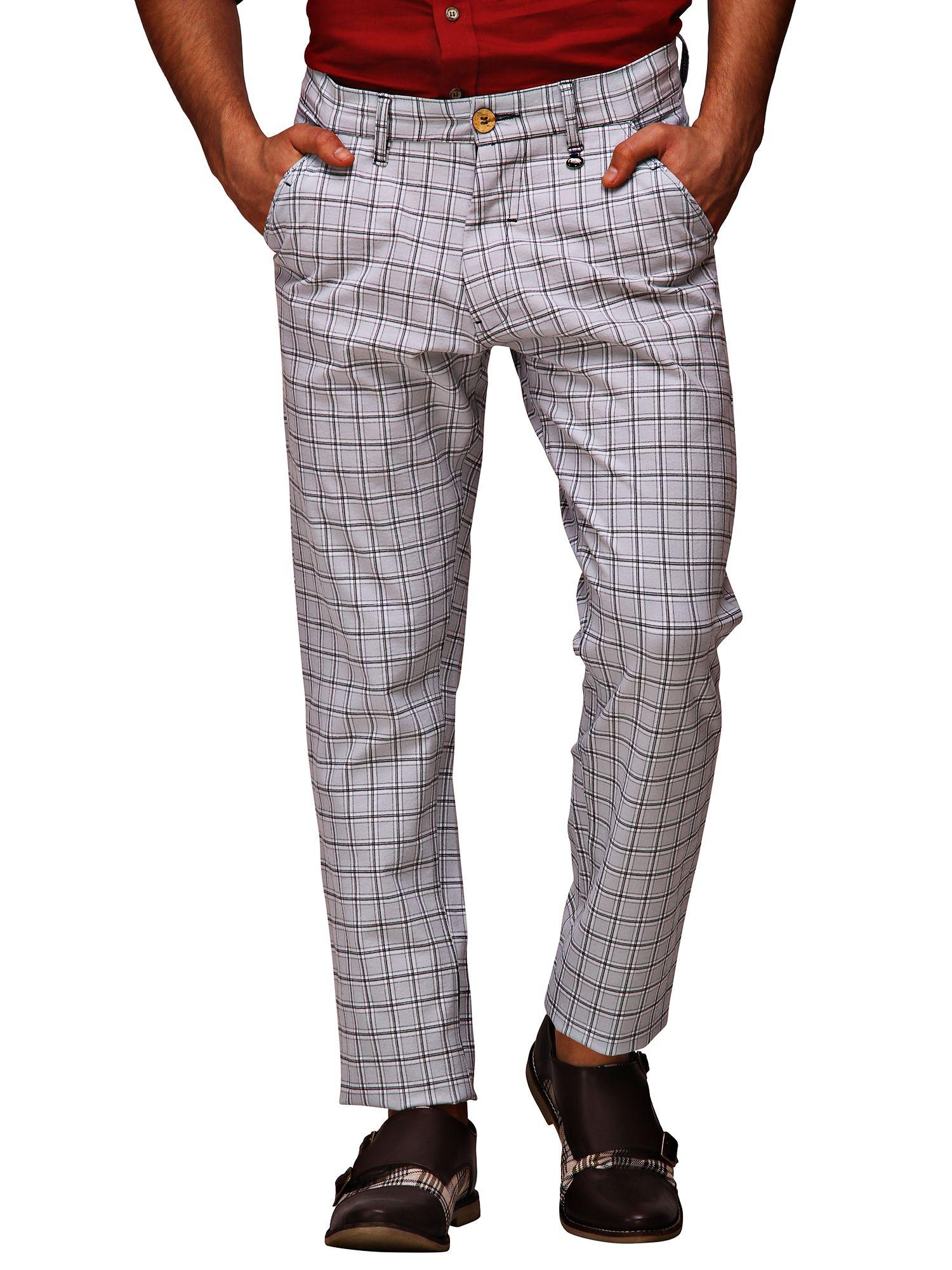 Jump USA Grey Regular -Fit Flat Trousers