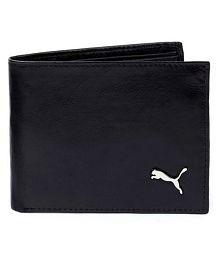 puma F1 Faux Leather Black Casual Regular Wallet