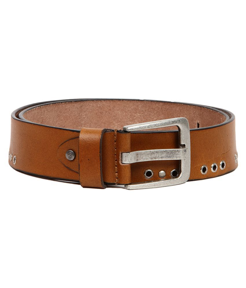 Flying Machine Brown Leather Casual Belts
