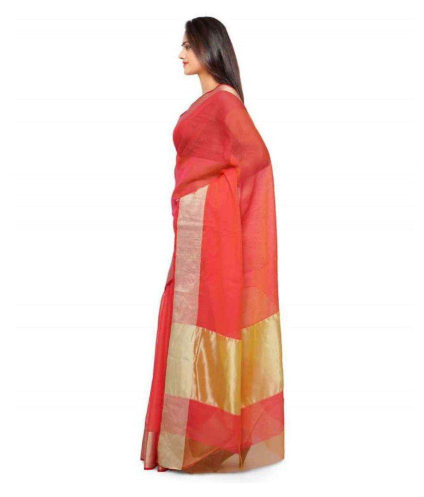 Urban India Gold Cotton Saree