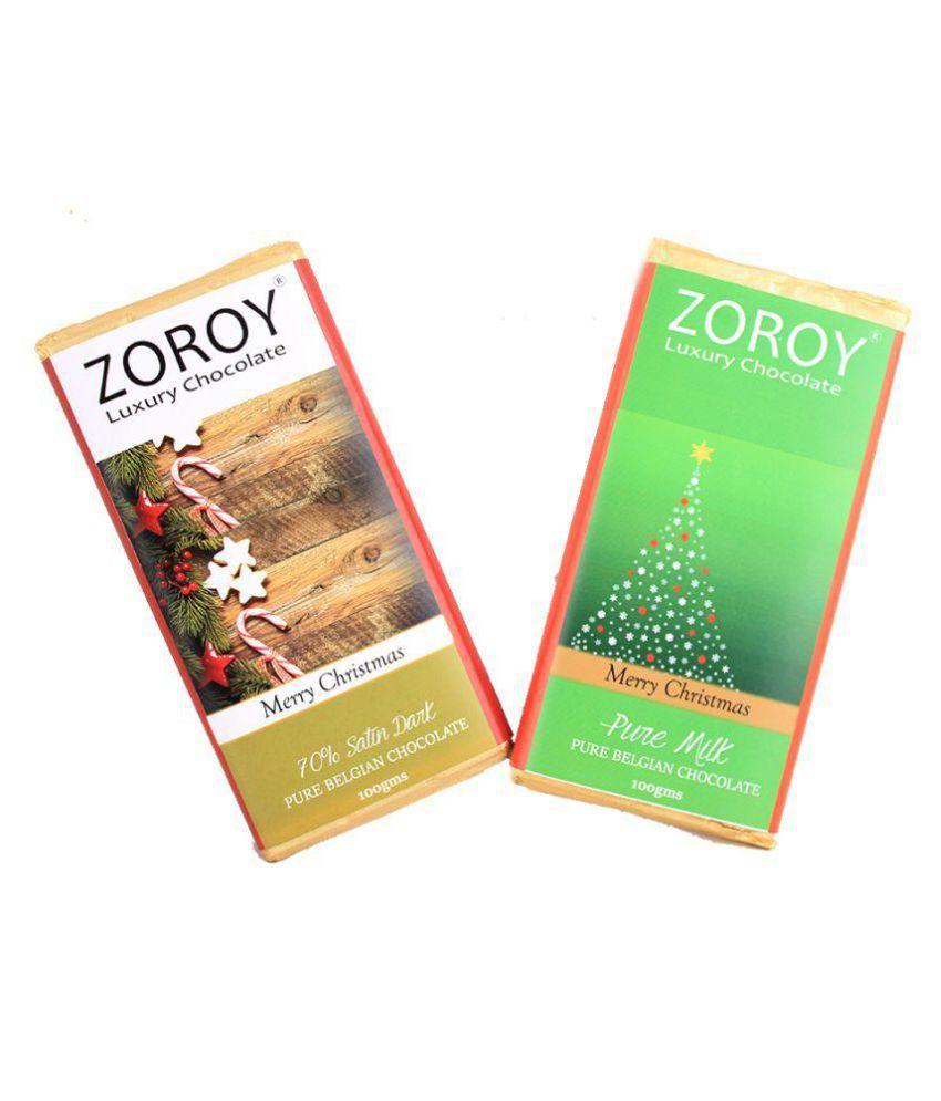 Zoroy Luxury Chocolate Belgian Bars Assorted Box Christmas and new year gift 200 gm