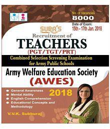 Army Welfare Education Society (AWES)Teachers PGT / TGT / PRT Exam Paperback English