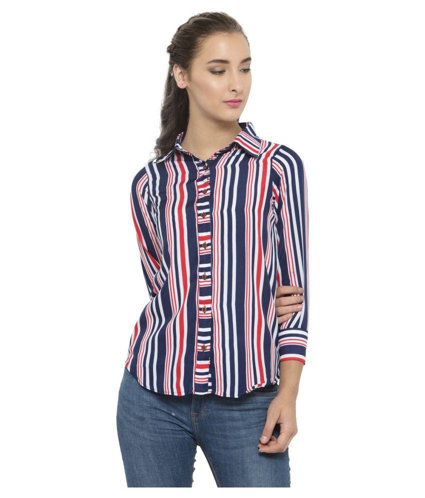 Enchanted Drapes Poly Crepe Shirt