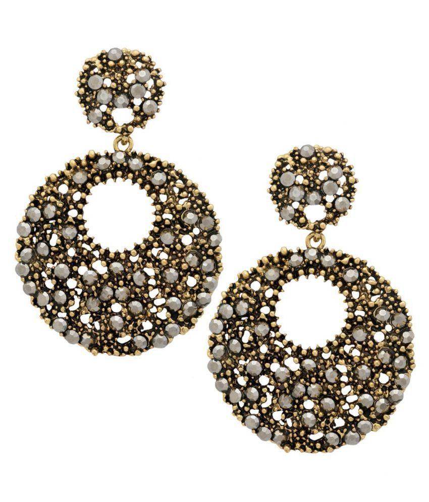Tipsyfly Alloy Push back I'm a Diva Earrings Chandelier Earring for women