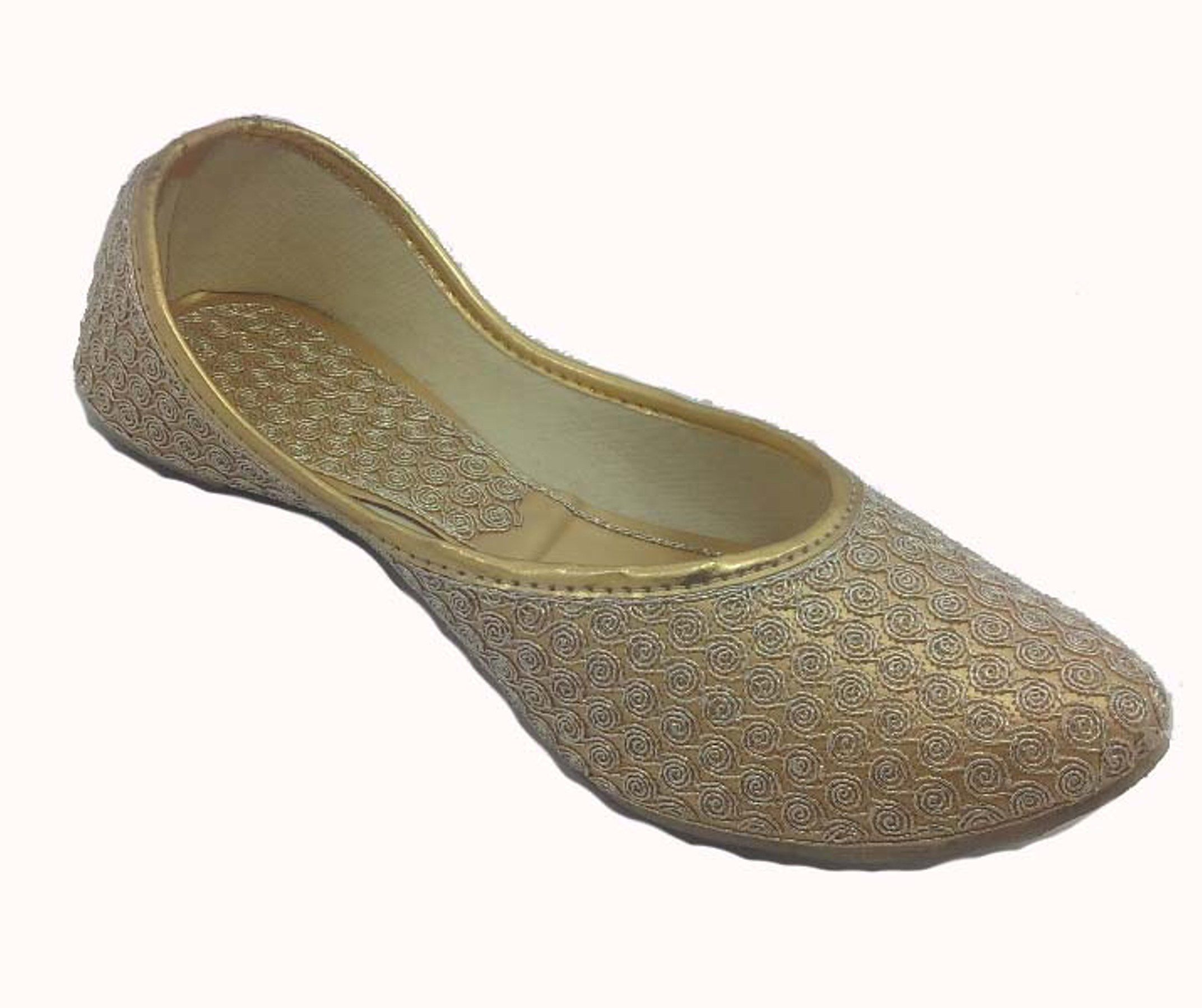 Bhagwatis Gold Ethnic Footwear