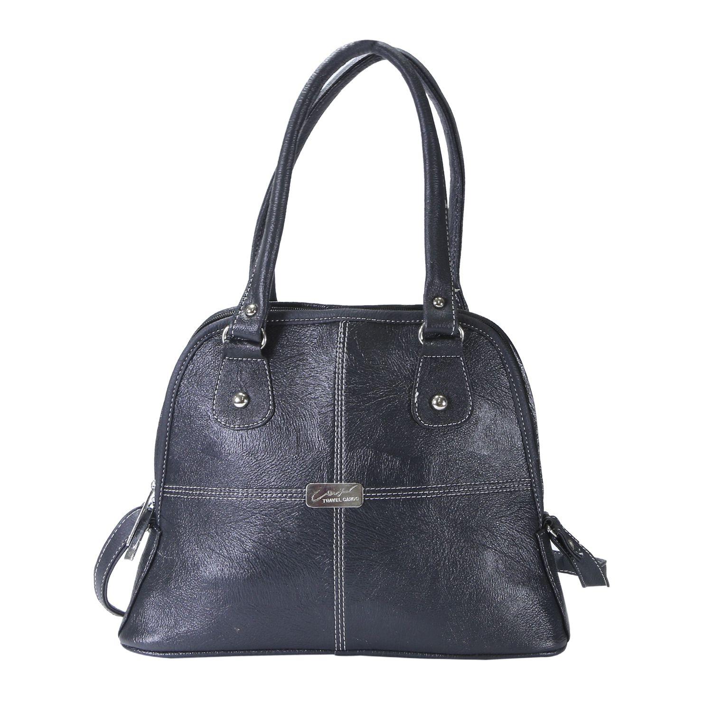 Desence Black Faux Leather Shoulder Bag