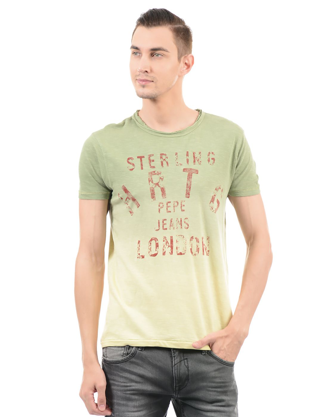 Pepe Jeans Green Round T-Shirt
