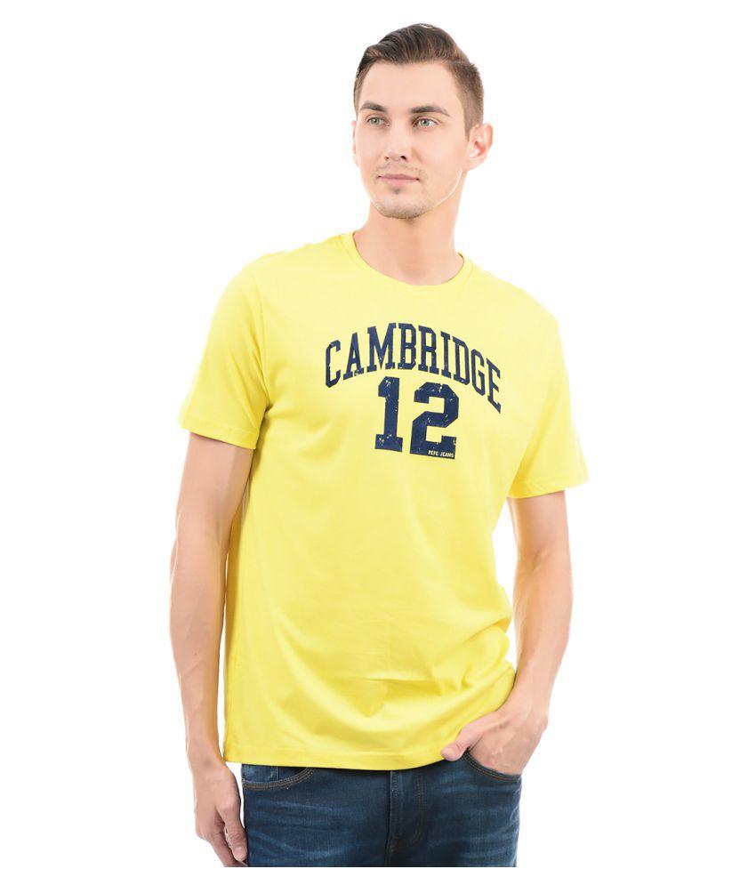 Pepe Jeans Yellow Round T-Shirt