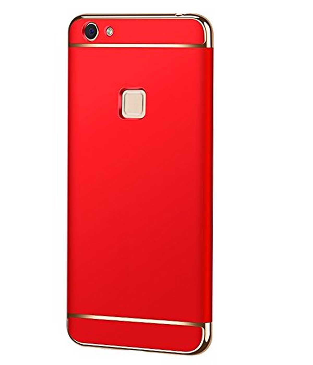 new concept 38a3e e6285 vivo V7 plus Plain Cases TBZ - Red