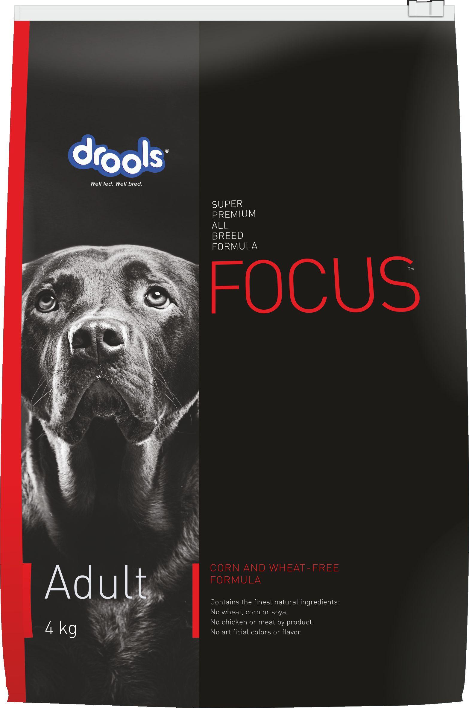 Drools Focus Adult, Super Premium Dog Food, 4kg