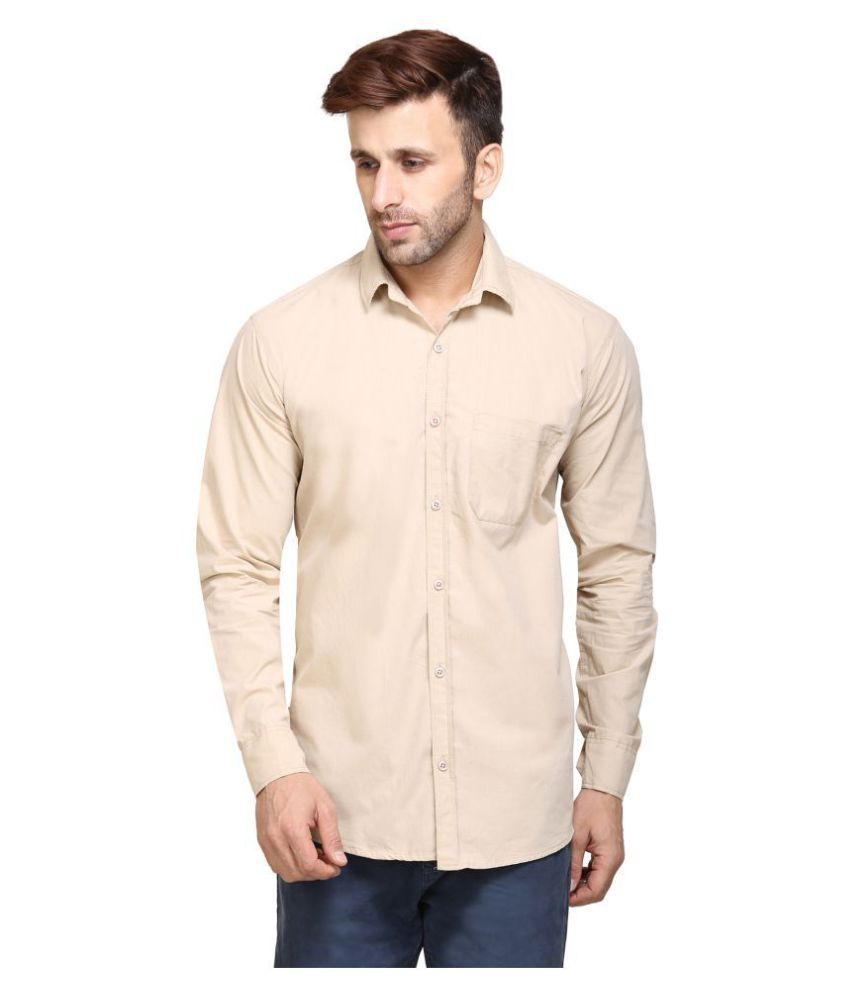 Maggivox Beige Regular Fit Shirt