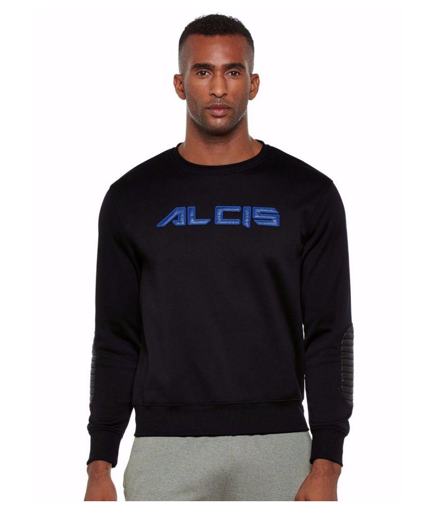 Alcis Men Black Slounge Sweat