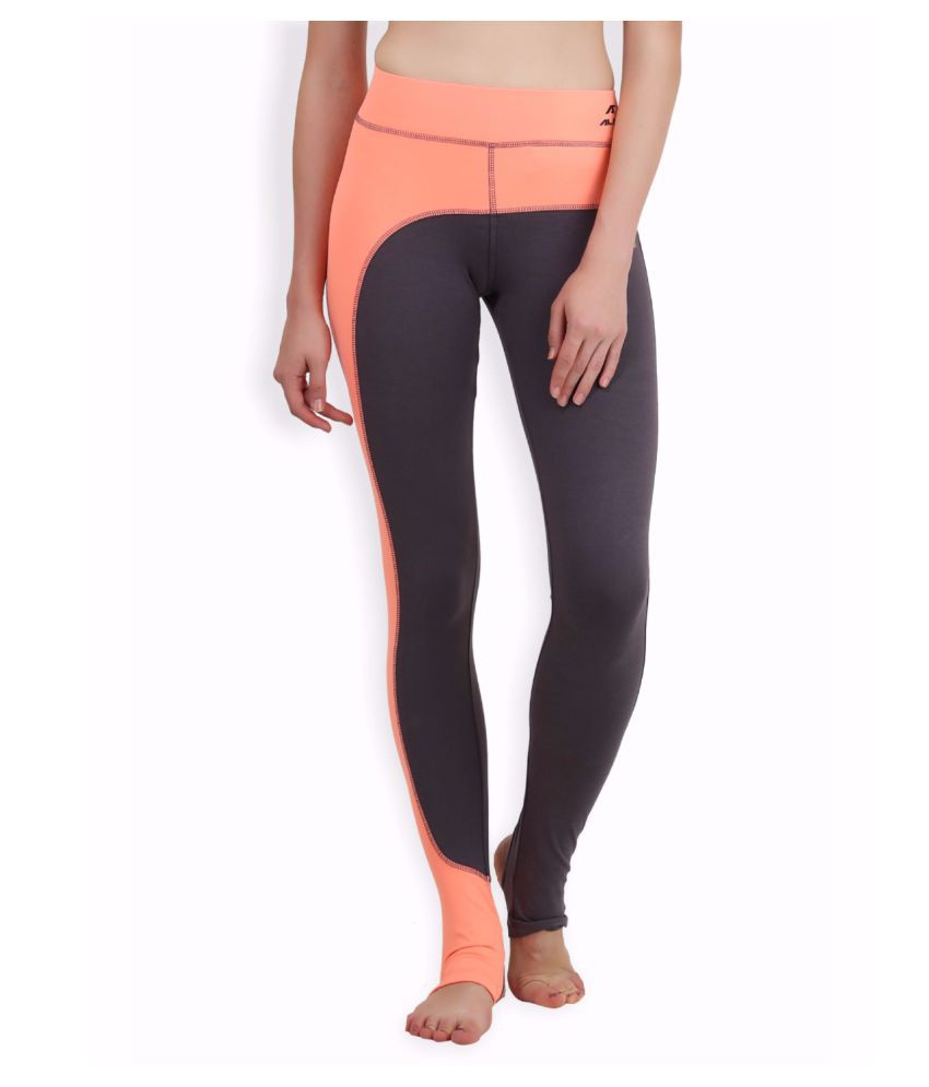 Alcis Women Grey Yoga Leggings