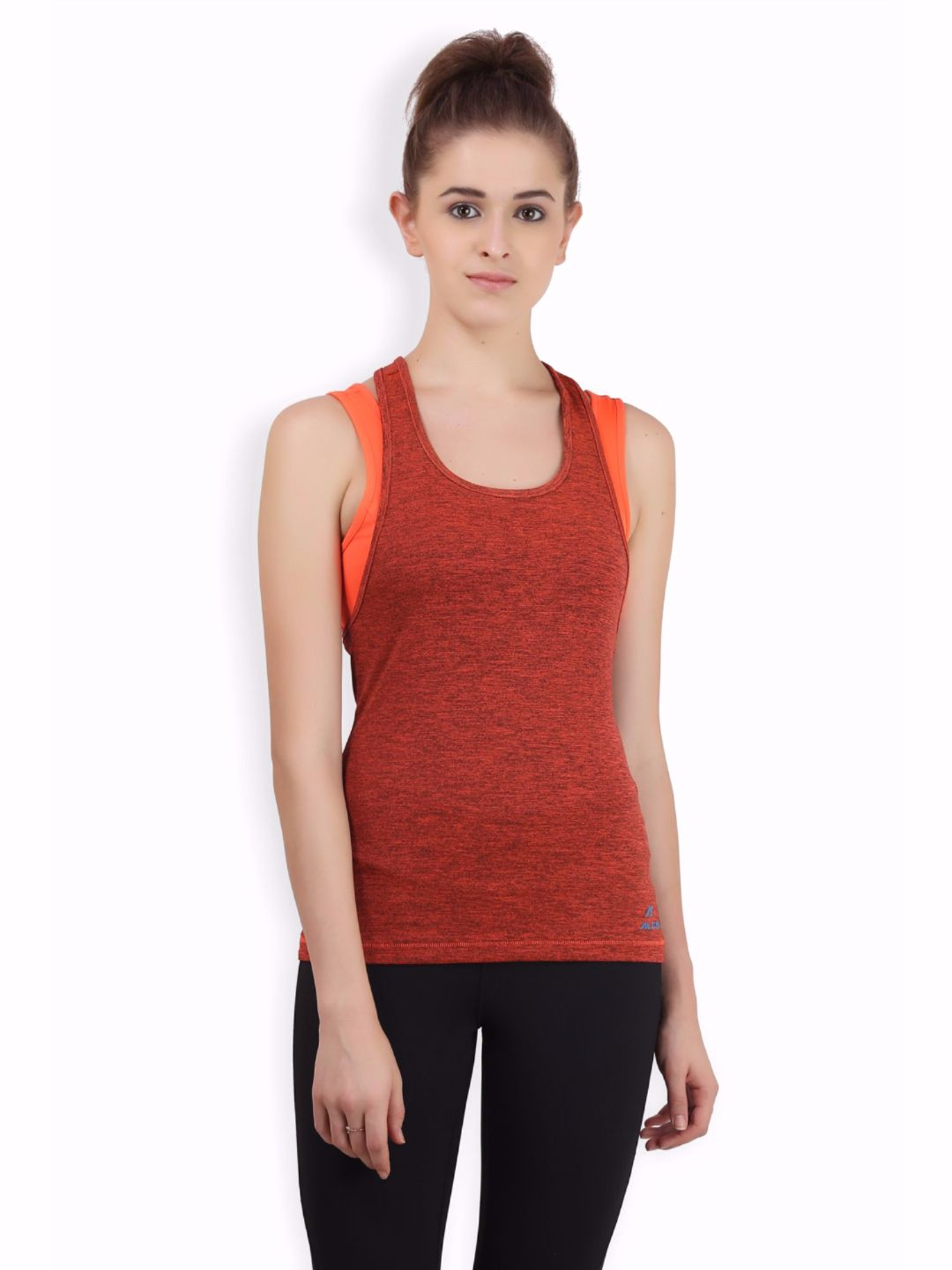 Alcis Women Orange Bra Tank Top