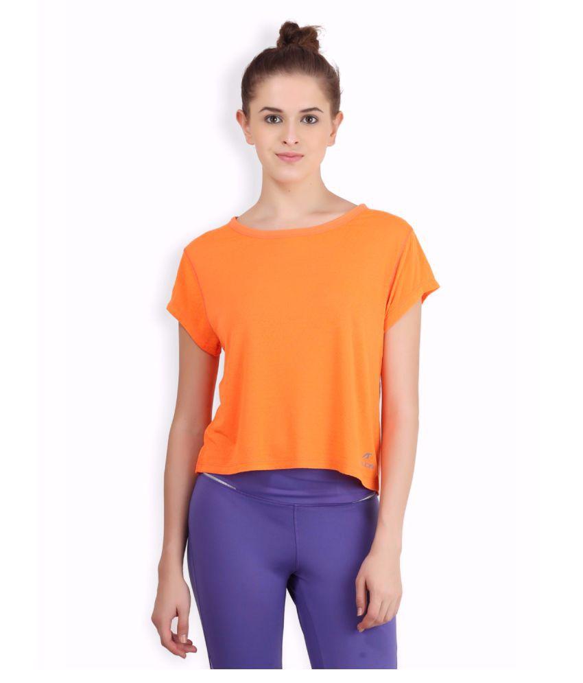 Alcis Women Orange Crop Top