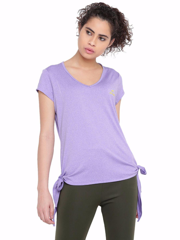 Alcis Women Violet Plain Tee