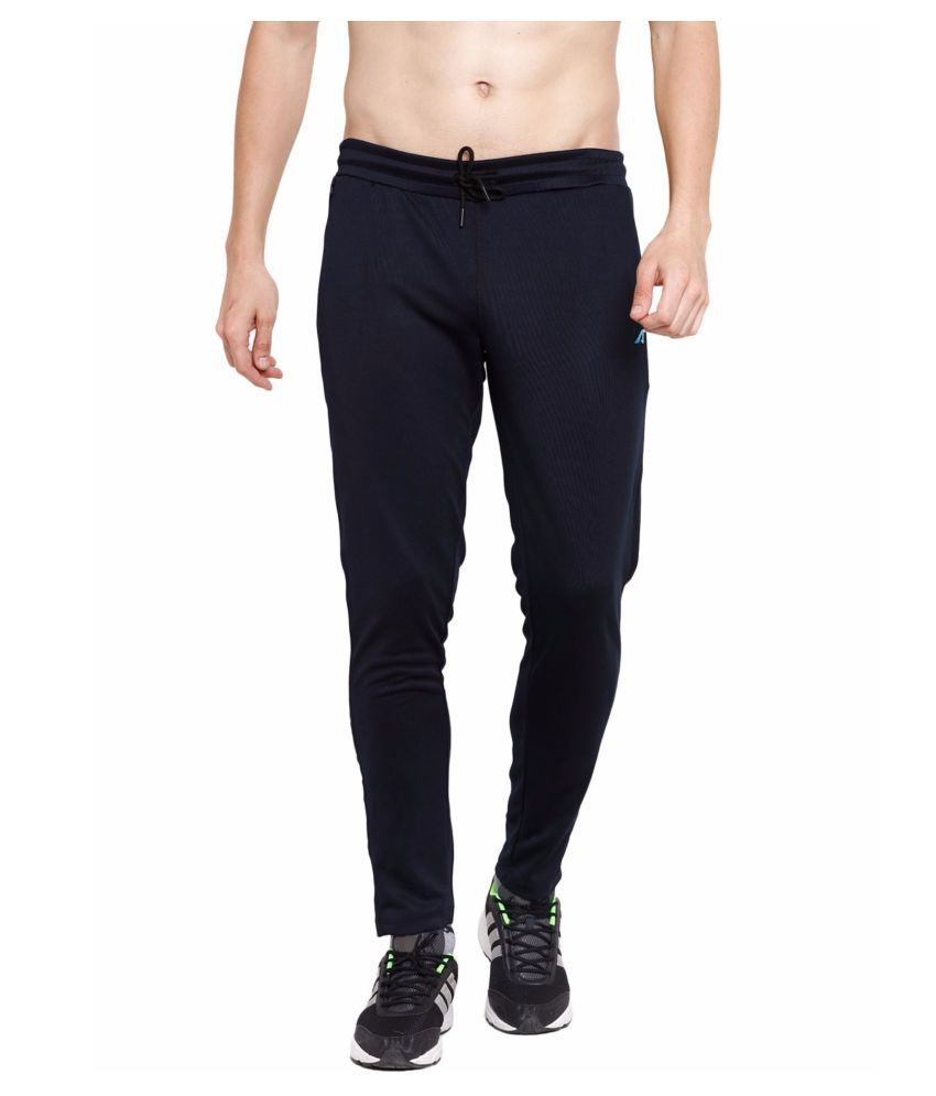 Alcis Men Black Train Trackpants