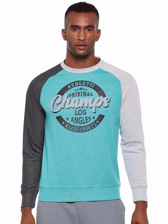 Alcis Men Blue Graphic Sweatshirt