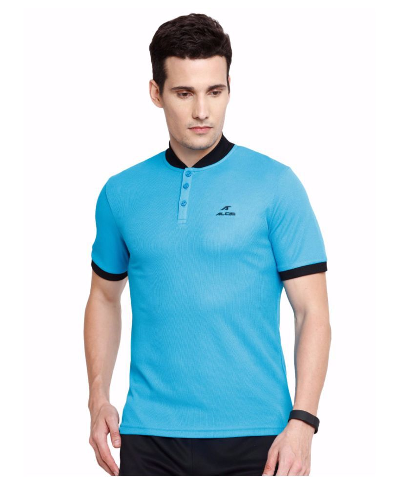 Alcis Men Blue Slounge Polo