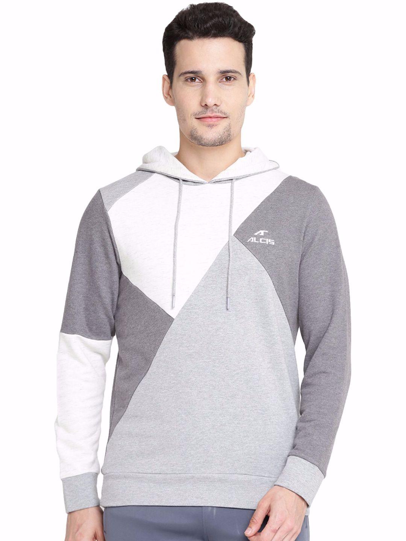 Alcis Men Grey Panel Sweatshirt