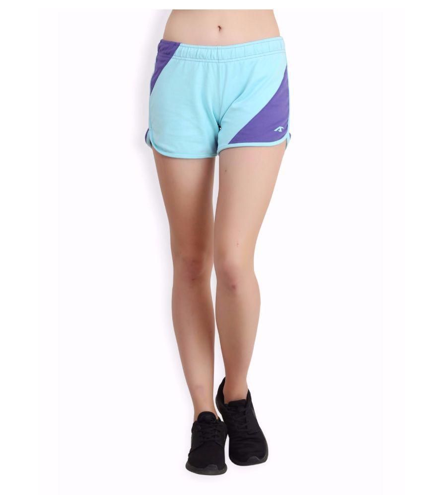 Alcis Women Blue Super Shorts