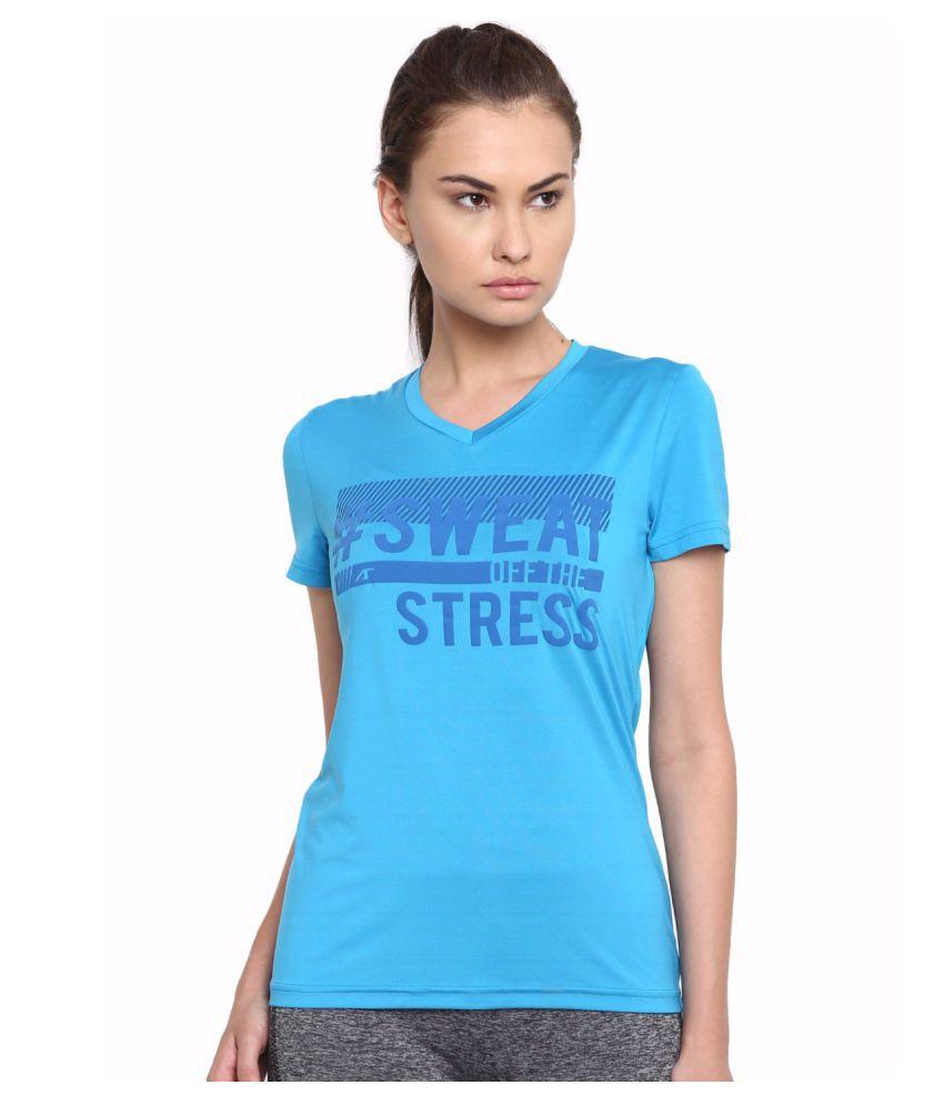 Alcis Women Blue Sweat-Off Tee