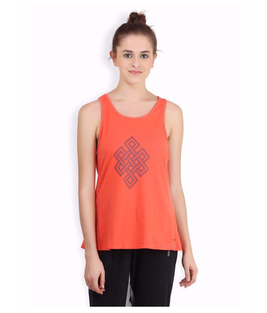 Alcis Women Orange Infinity Top